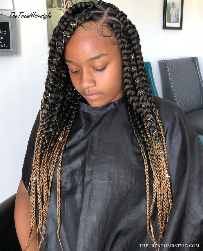 Ombre Box Braids