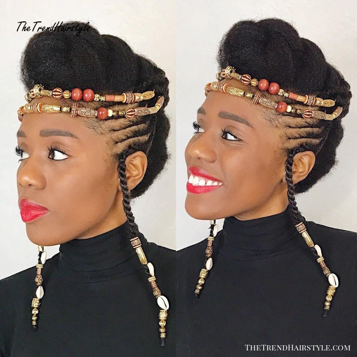 Vintage Braided Hairdo