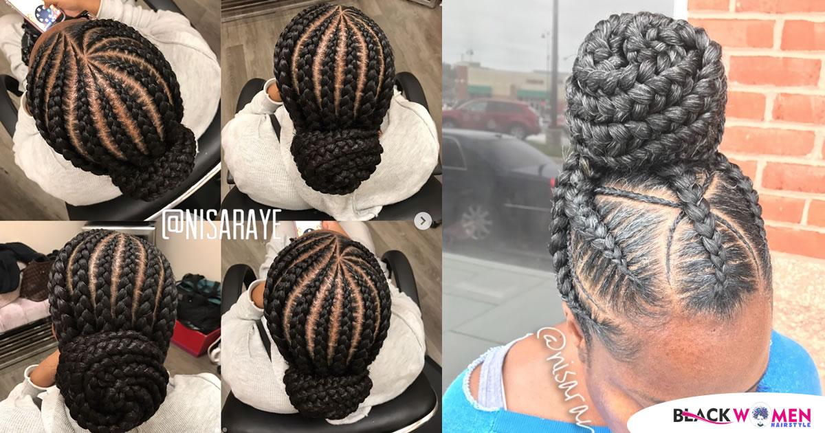180 Impressive Ghana Braids Hair Style