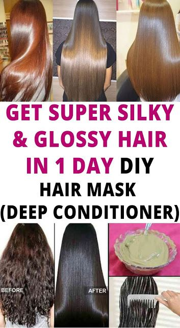 GET SUPER SILKY GLOSSY HAIR IN 1 DAY   DIY HAIR MASK – DEEP CONDITIONER hair beauty style mask Silkey
