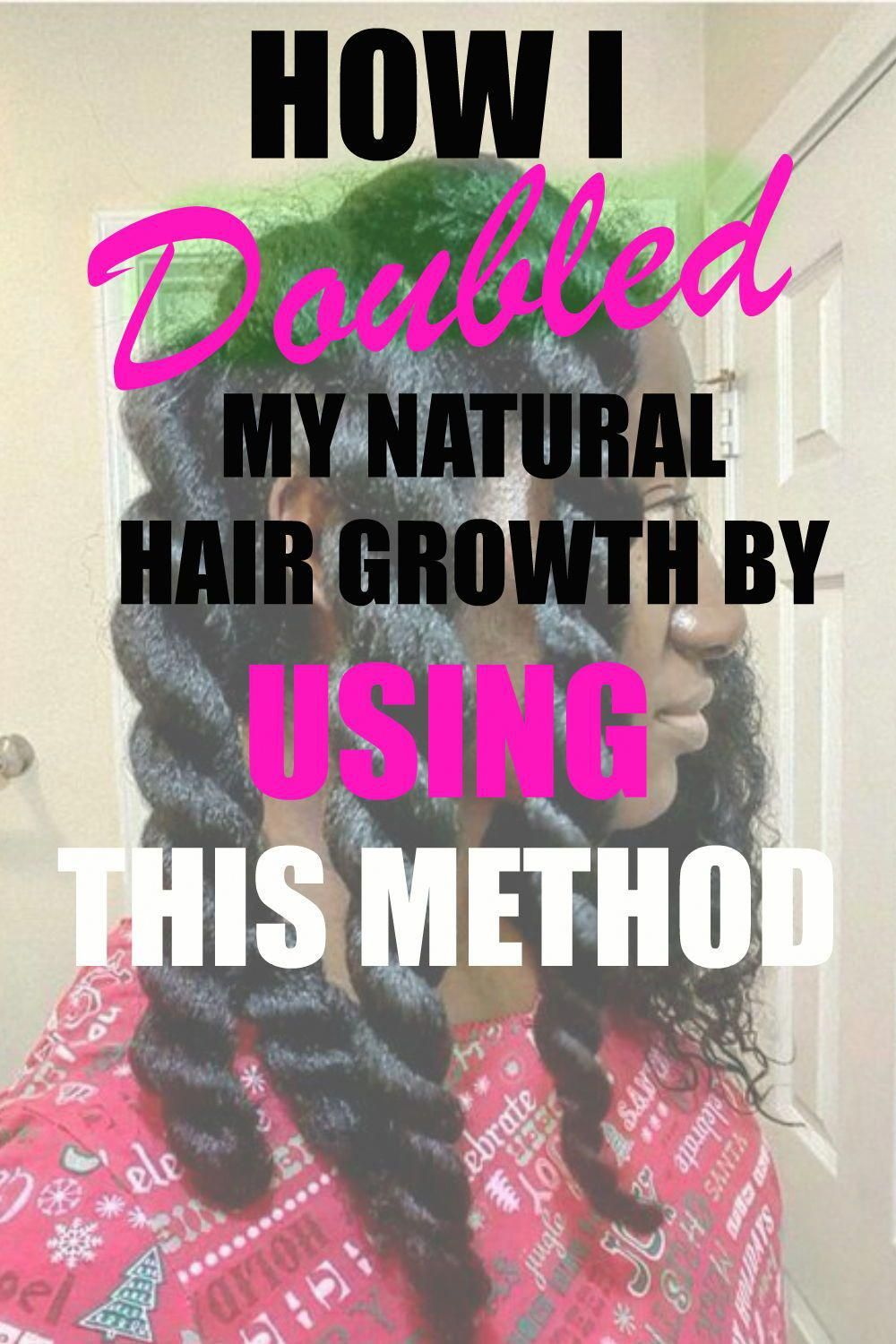 How I was able to double my natural hair growth using this fast hair growth method that help with growing my hair back naturalhair hairgrowth Afrohair UpdoHairstylesForLongHair