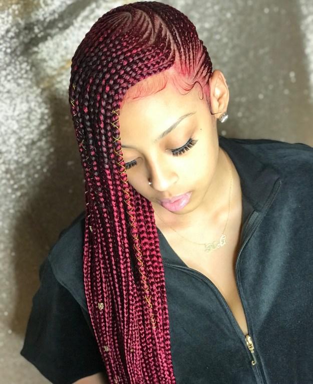 2 cherry lemonade braids
