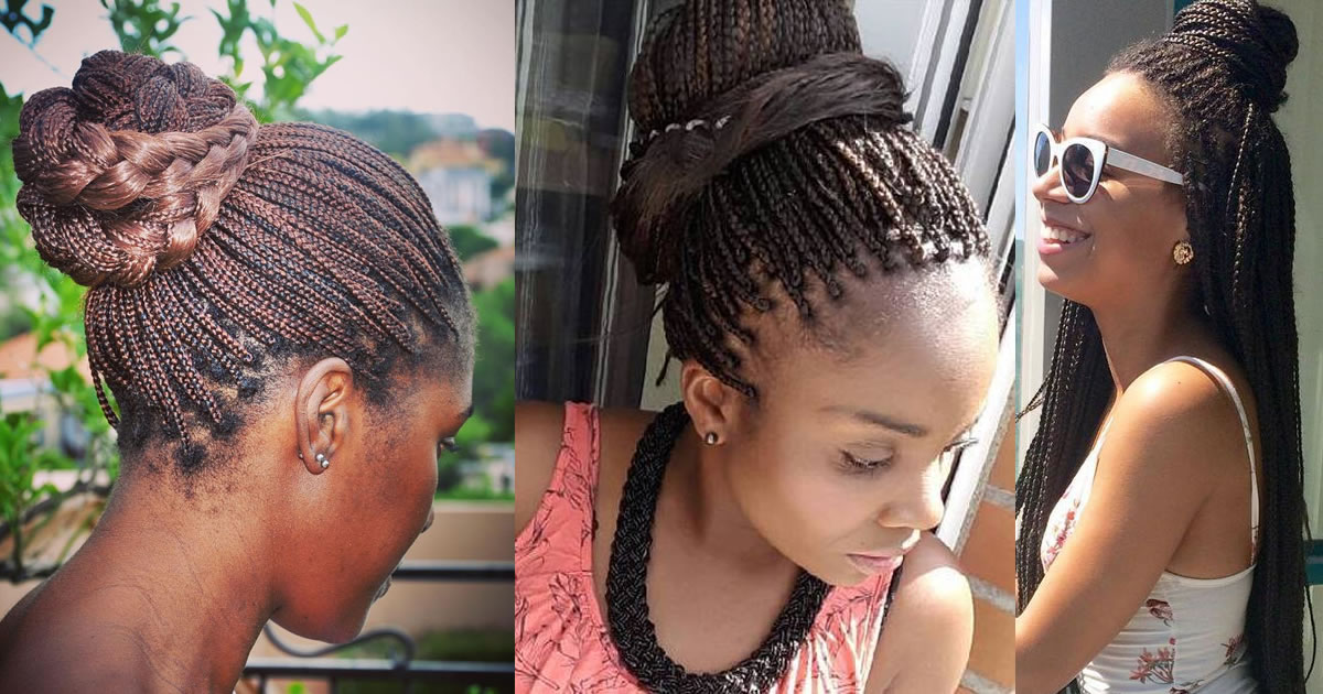 The 10 Most Beautiful Small Box Braid Hairdos
