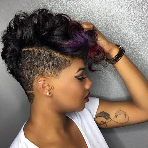1 short black undercut hairstyle
