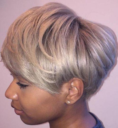 11 ash blonde pixie bob for black women