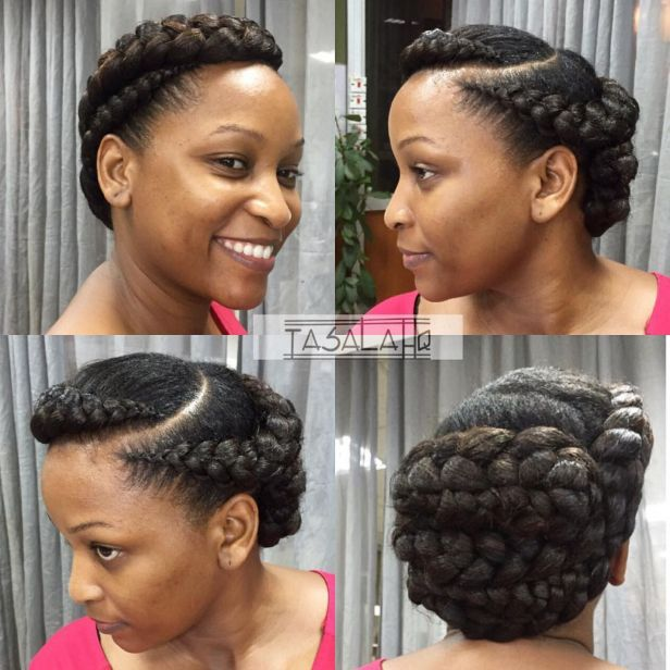 12 braided updo for natural hair