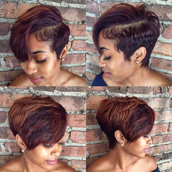 13 African American tapered pixie with bangs