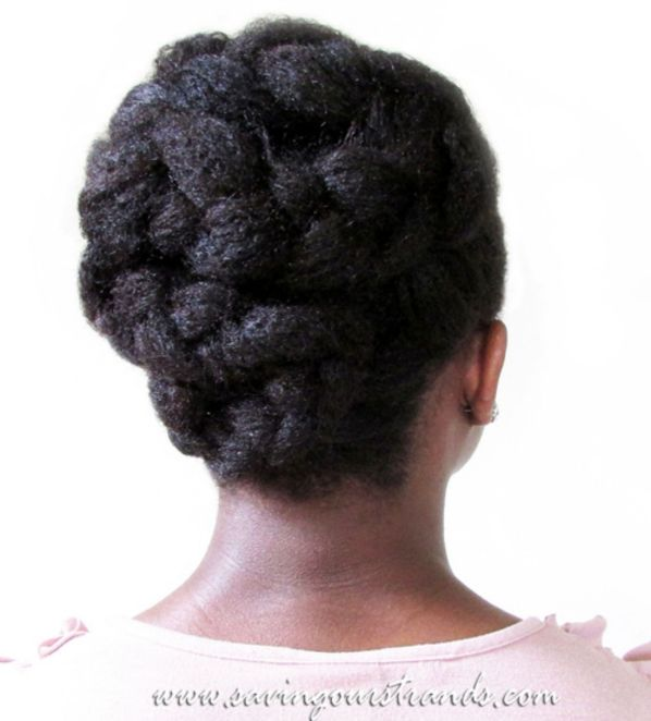 14 braids and twists updo hairstyle for black women
