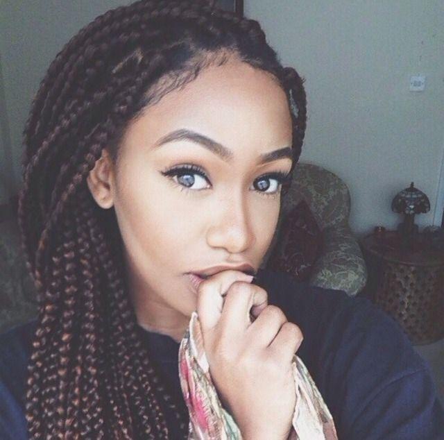 16 grey eyes box braids