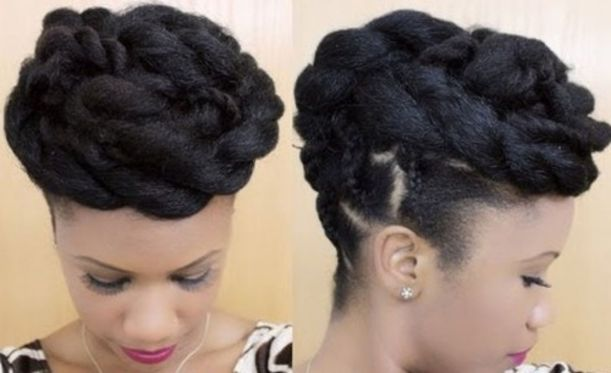 16 twist out updo hairstyle for black women