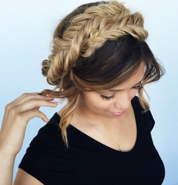 19 fishtail braided updo
