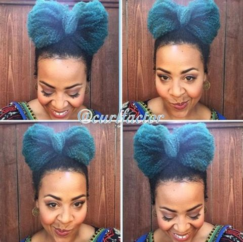 20 funky bow updo for black women