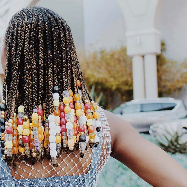 23 Best Ponytails Braids With beads 2020 For Natural Hair Styleafrika 9
