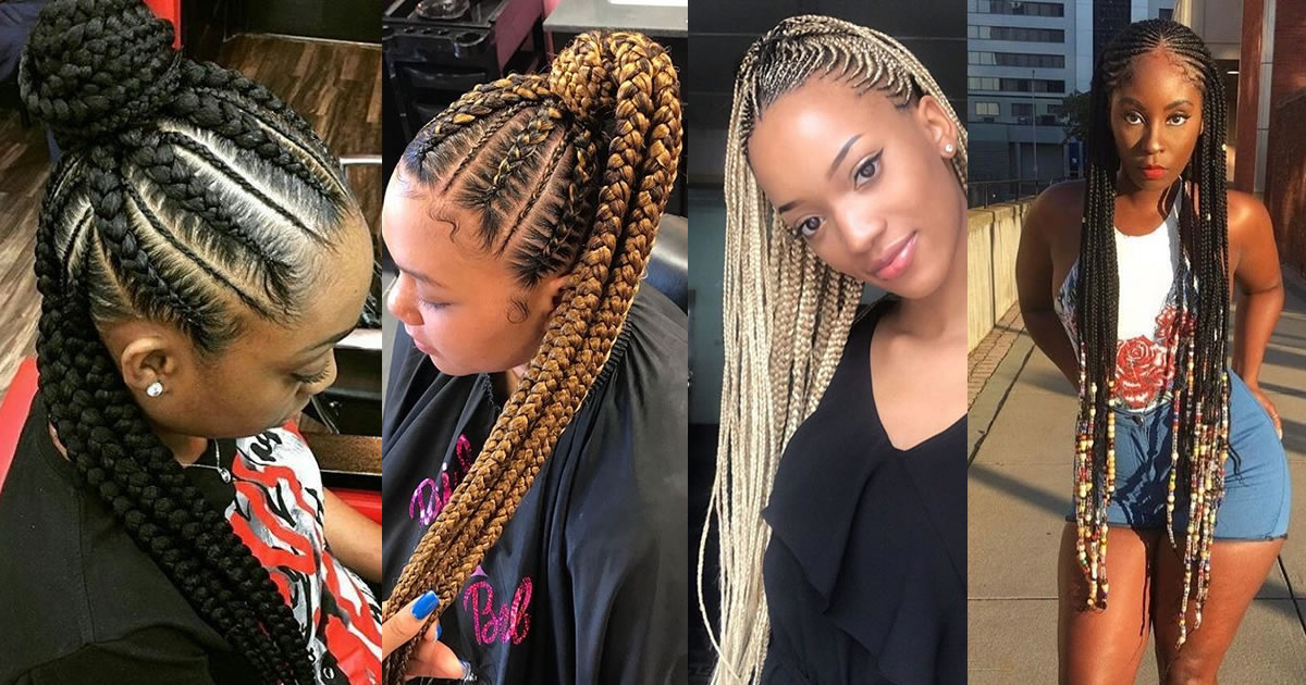 30 Lovely Ghana Braids Updos Cornrows Jumbo Amp Ponytail