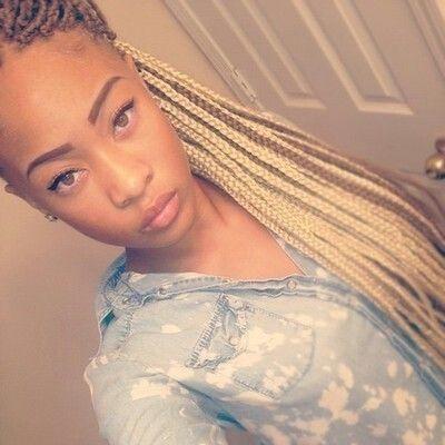 34 long golden brown box braids