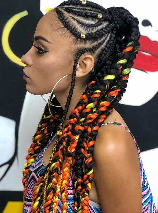 35 Best Ways to Wear Feed in Braids Ponytail For Black Ladies Styleafrika