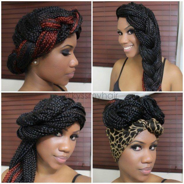36 box braids