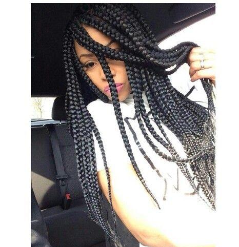37 long jet black box braids hairstyles