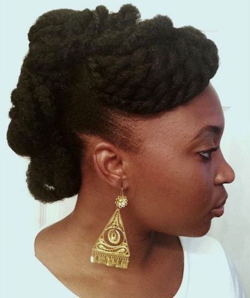 4 twisted updo for natural hair