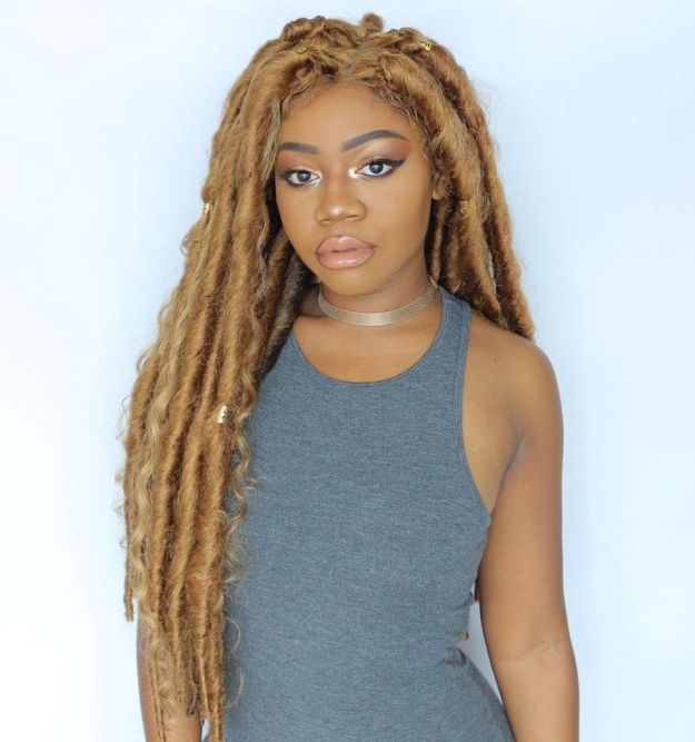 40 Fabulous Funky Ways to Pull Off Faux Locs 17