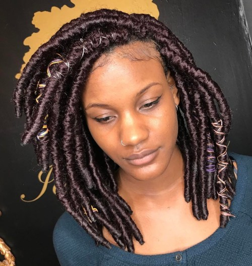 40 Fabulous Funky Ways to Pull Off Faux Locs 19