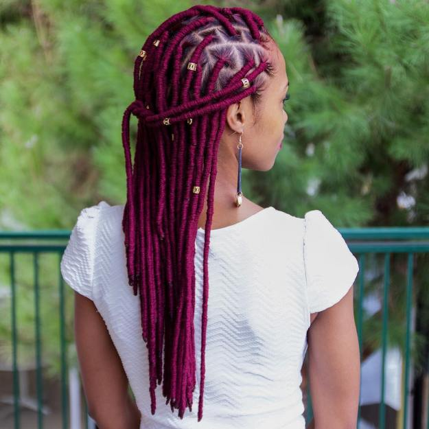 40 Fabulous Funky Ways to Pull Off Faux Locs 2