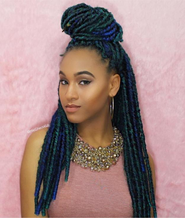 40 Fabulous Funky Ways to Pull Off Faux Locs 25