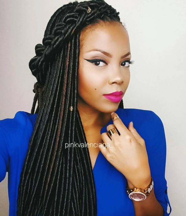40 Fabulous Funky Ways to Pull Off Faux Locs 27