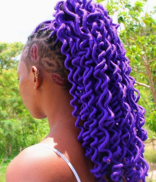 40 Fabulous Funky Ways to Pull Off Faux Locs 28