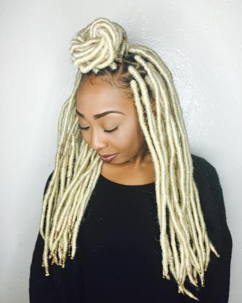 40 Fabulous Funky Ways to Pull Off Faux Locs 30