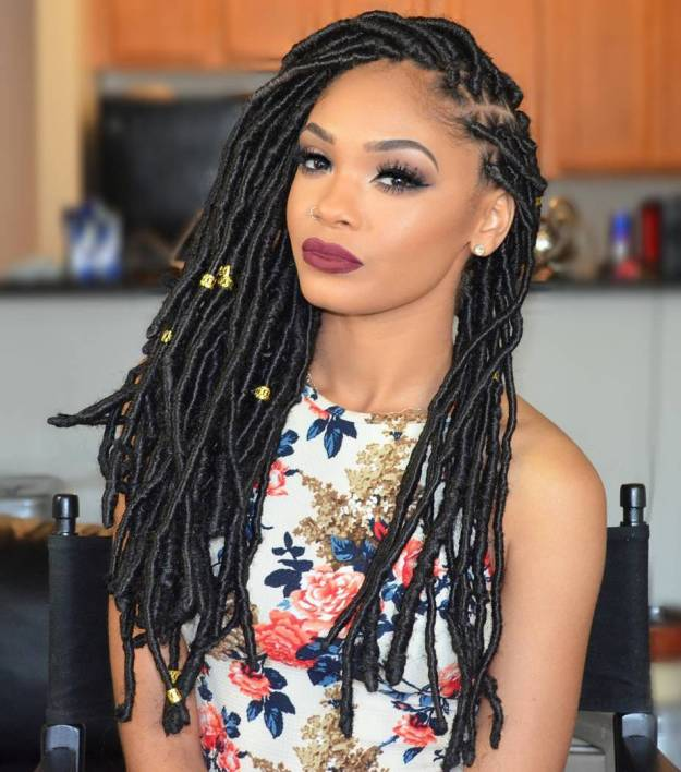 40 Fabulous Funky Ways to Pull Off Faux Locs 7