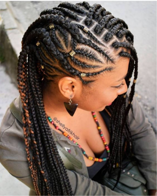 42 Catchy Cornrow Braids Hairstyles Ideas to Try in 2019 Bored Art 11