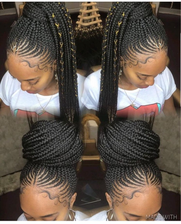 42 Catchy Cornrow Braids Hairstyles Ideas to Try in 2019 Bored Art 18