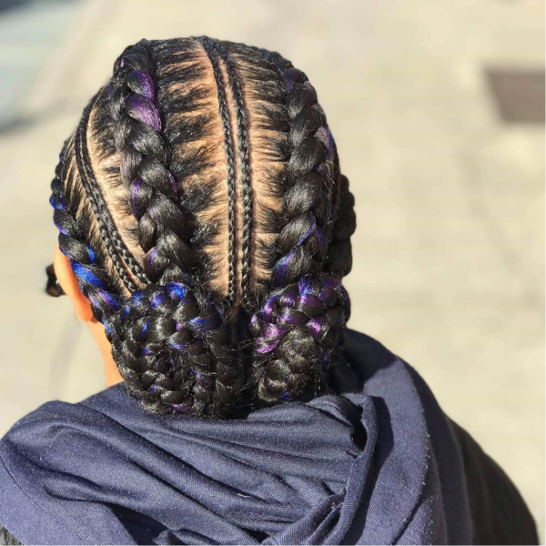 42 Catchy Cornrow Braids Hairstyles Ideas to Try in 2019 Bored Art 4