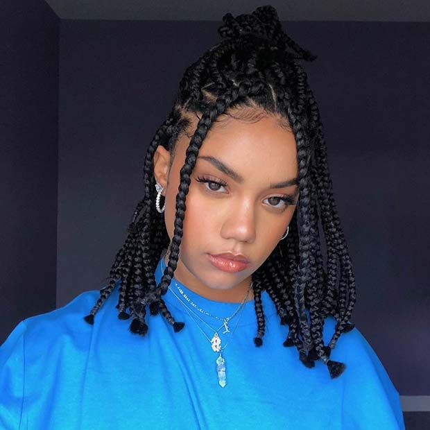 43 Cute Medium Box Braids You Need to Try Page 4 of 4 StayGlam