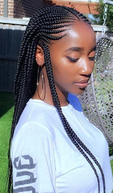 45 Best Ways to Rock Feed In Braids this Season Page 3 of 4 StayGlam