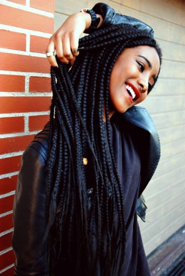 46 big smile box braids