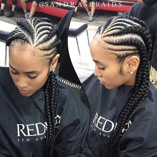 51 Best Ghana Braids Hairstyles Page 3 of 5 StayGlam
