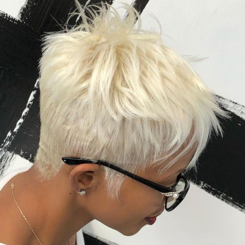 6 African American white blonde
