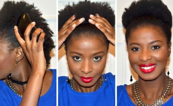 7 gorgeous low updos for natural hair