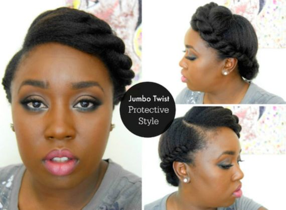8 rod curl updo hairstyle for black women