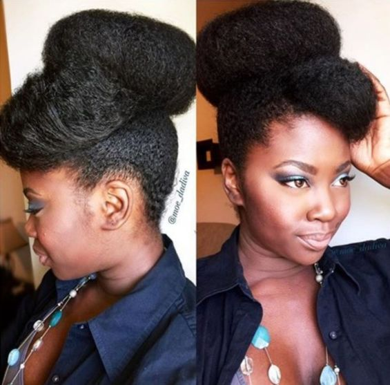 9 big bun for natural hair