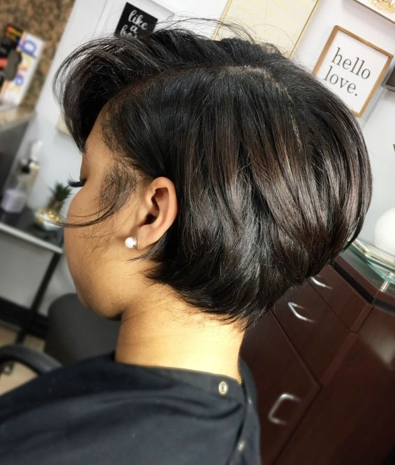 9 short black bob hairstyle