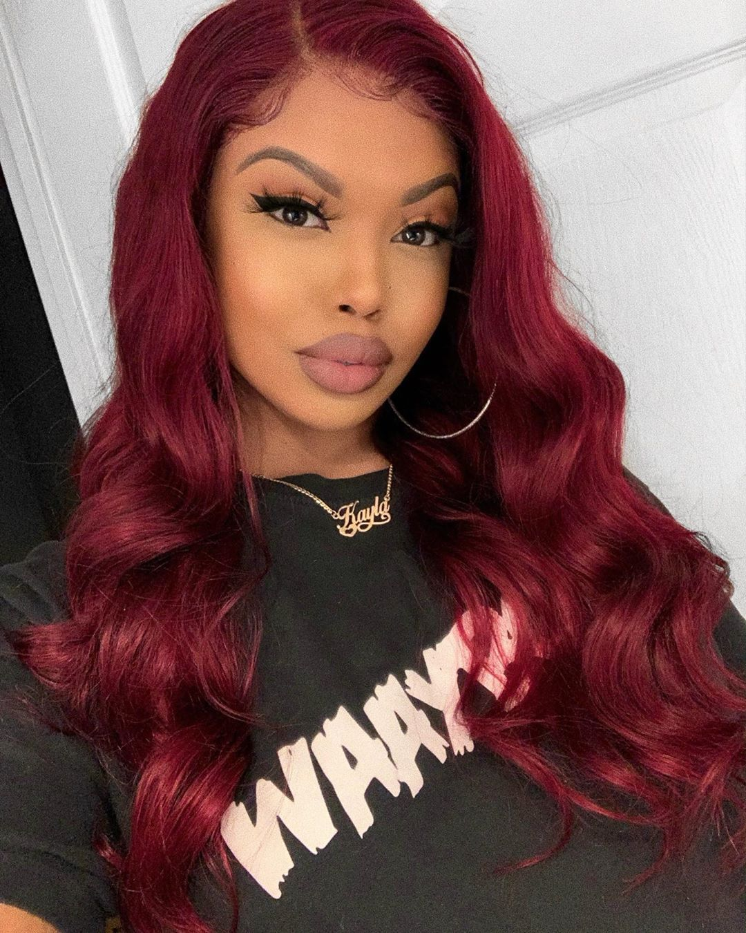 99J Burgundy Color Body Wave 13x4 Lace Front Wigs For Black Women 1