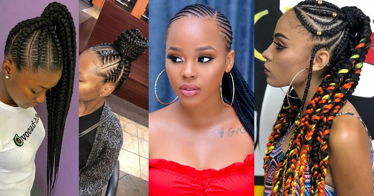 Best Ways to Wear Feed in Braids Ponytail For Black Ladies
