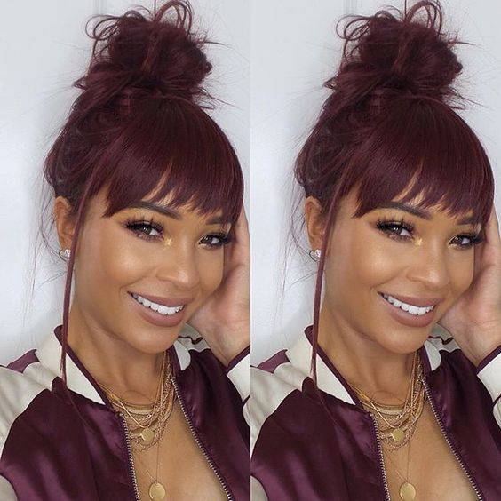 Free shipping Lace Front Wigs With Bang silky straight and body wave for Black Woman Lishahair LS95233