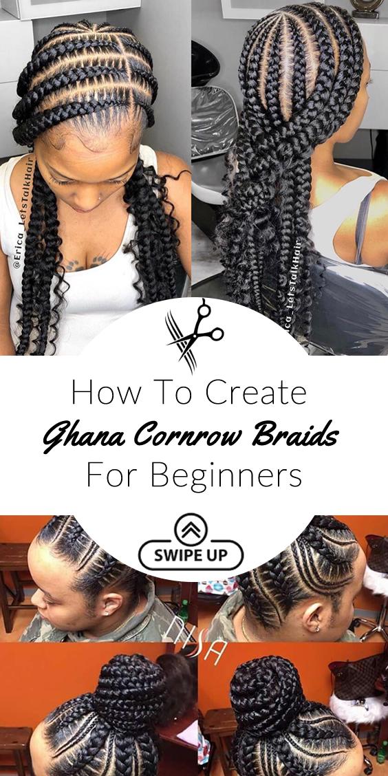 How To Create Ghana Cornrow Braids For Beginners 2