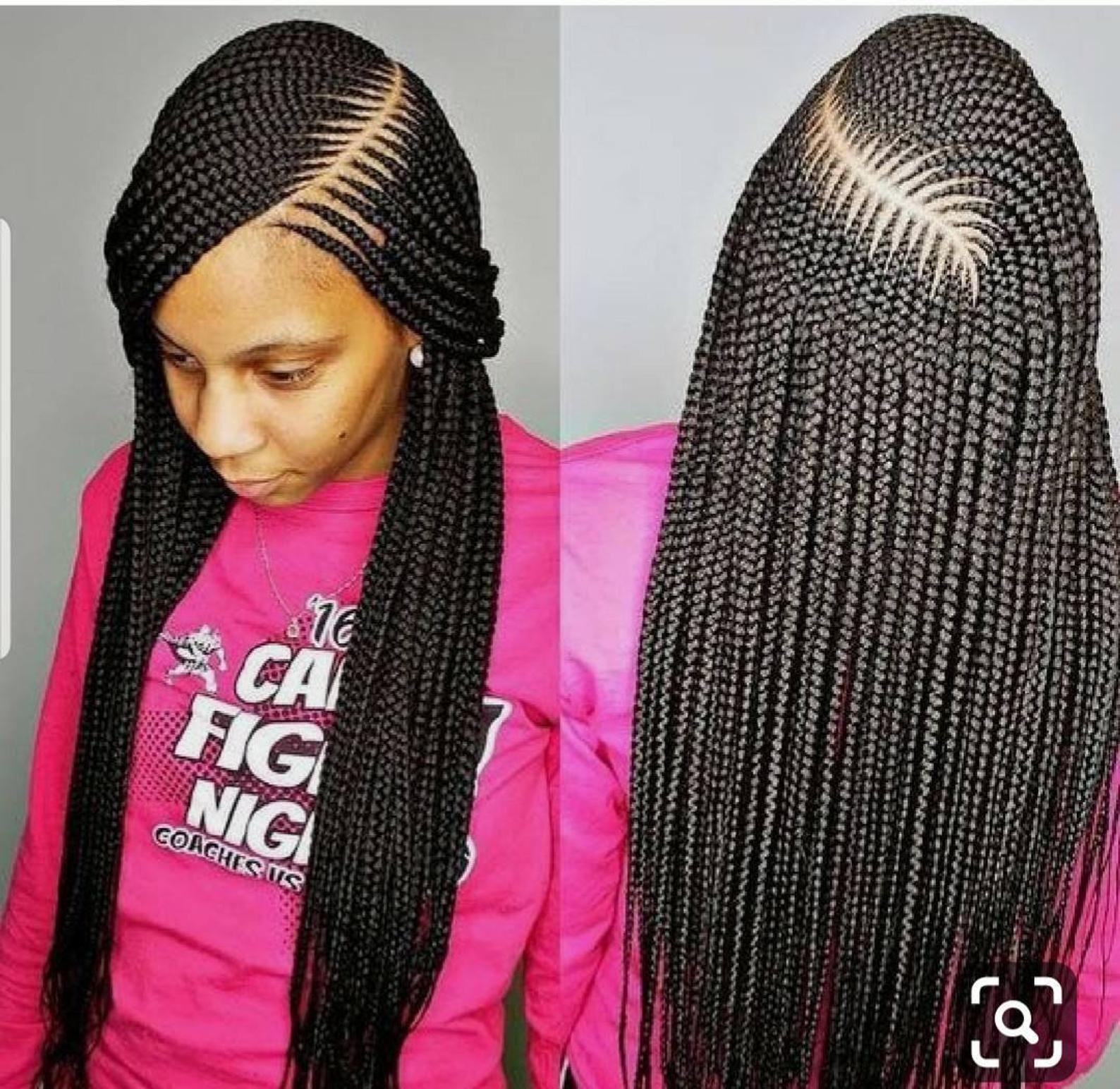 Large Cornrow braided wigcornrow braid lace wig cornrow wigs full lace braided wigGhana weaving braided wigcornrows