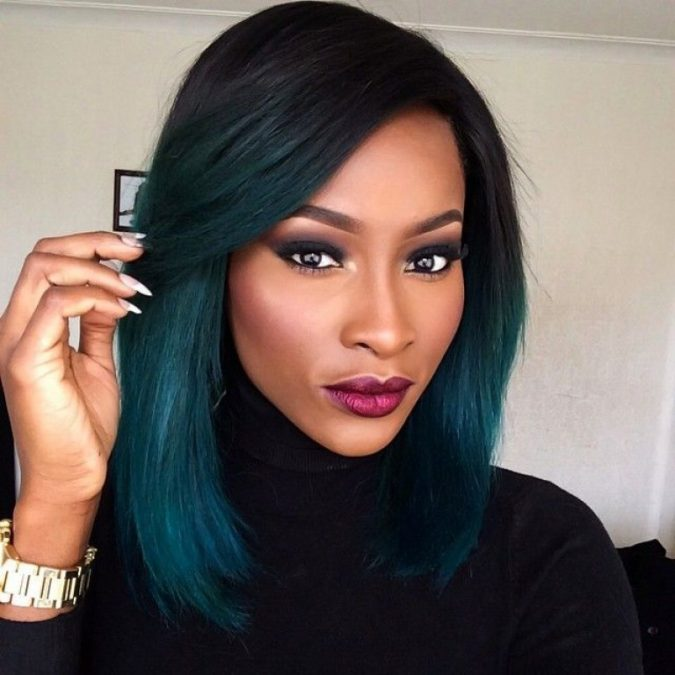 Long Bob ombre Hairstyle for black women 2 675x675 1