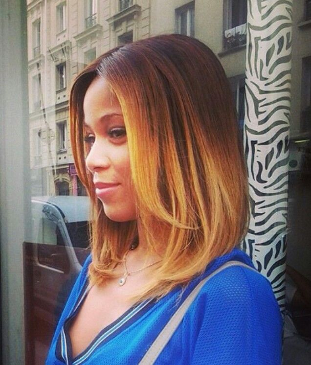 Long Bob ombre Hairstyle for black women